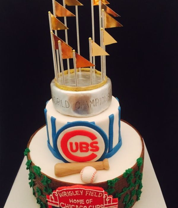 Chicago Cubs Championship Birthday Cake