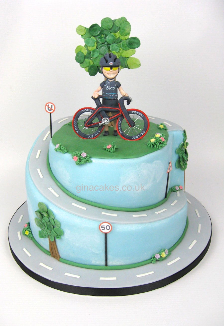 50th Birthday Cyclist Cake Cakecentral