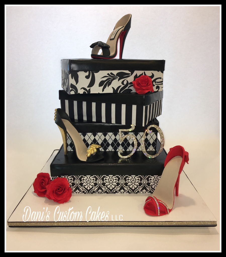 50Th Birthday High Heel Cake CakeCentralcom