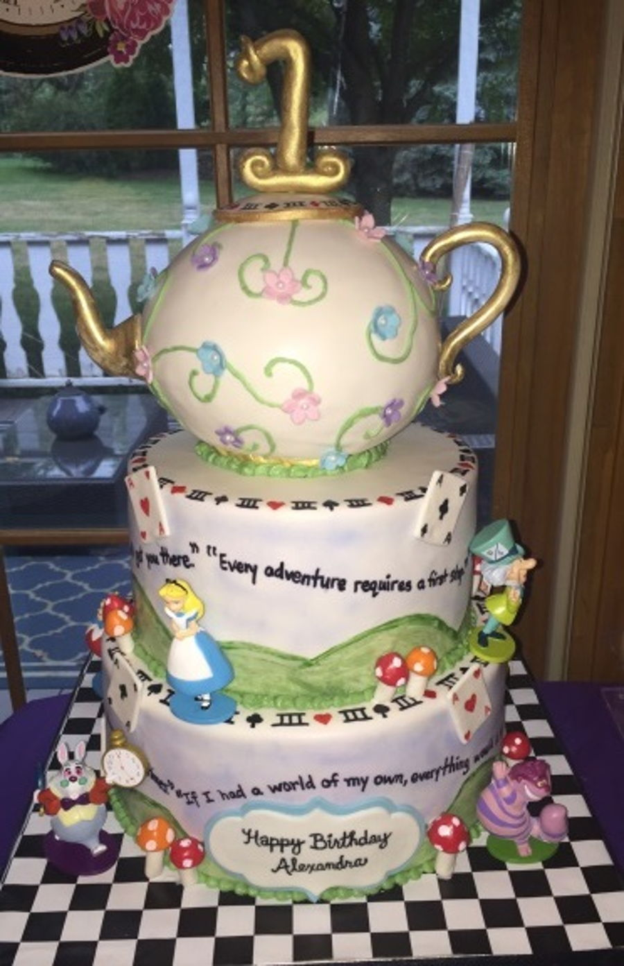 Alice And Wonderland First Birthday Cake Cakecentral Com