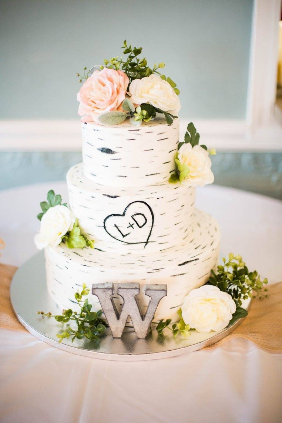 Birch Bark Wedding Cake Cakecentral Com