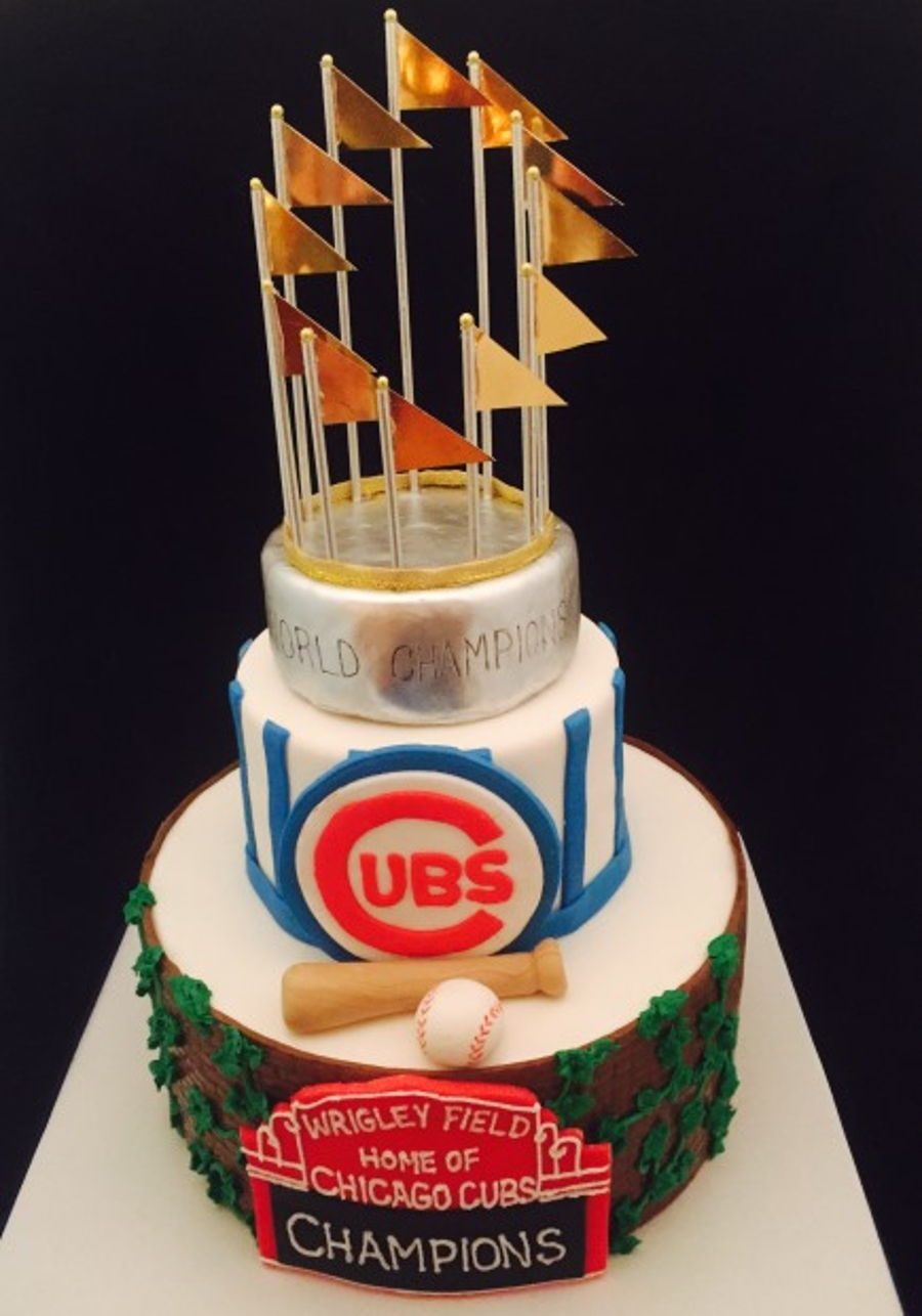 Chicago Cubs Championship Birthday Cake on Cake Central