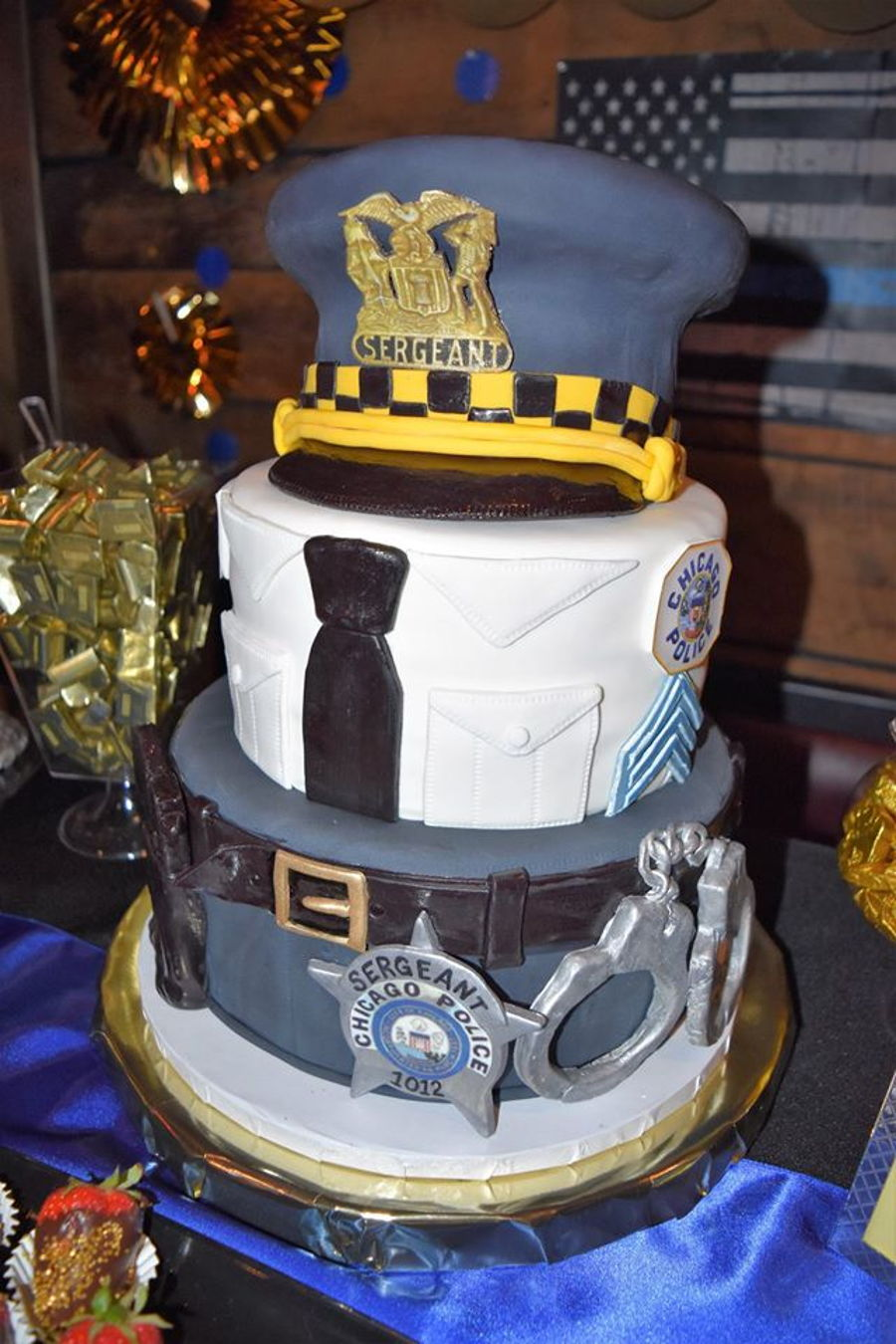 Chicago Police Sergeant Promotional Cake On Central