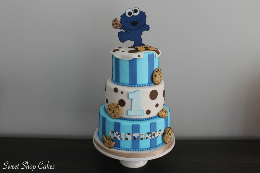 Cookie Monster Birthday Cake on Cake Central