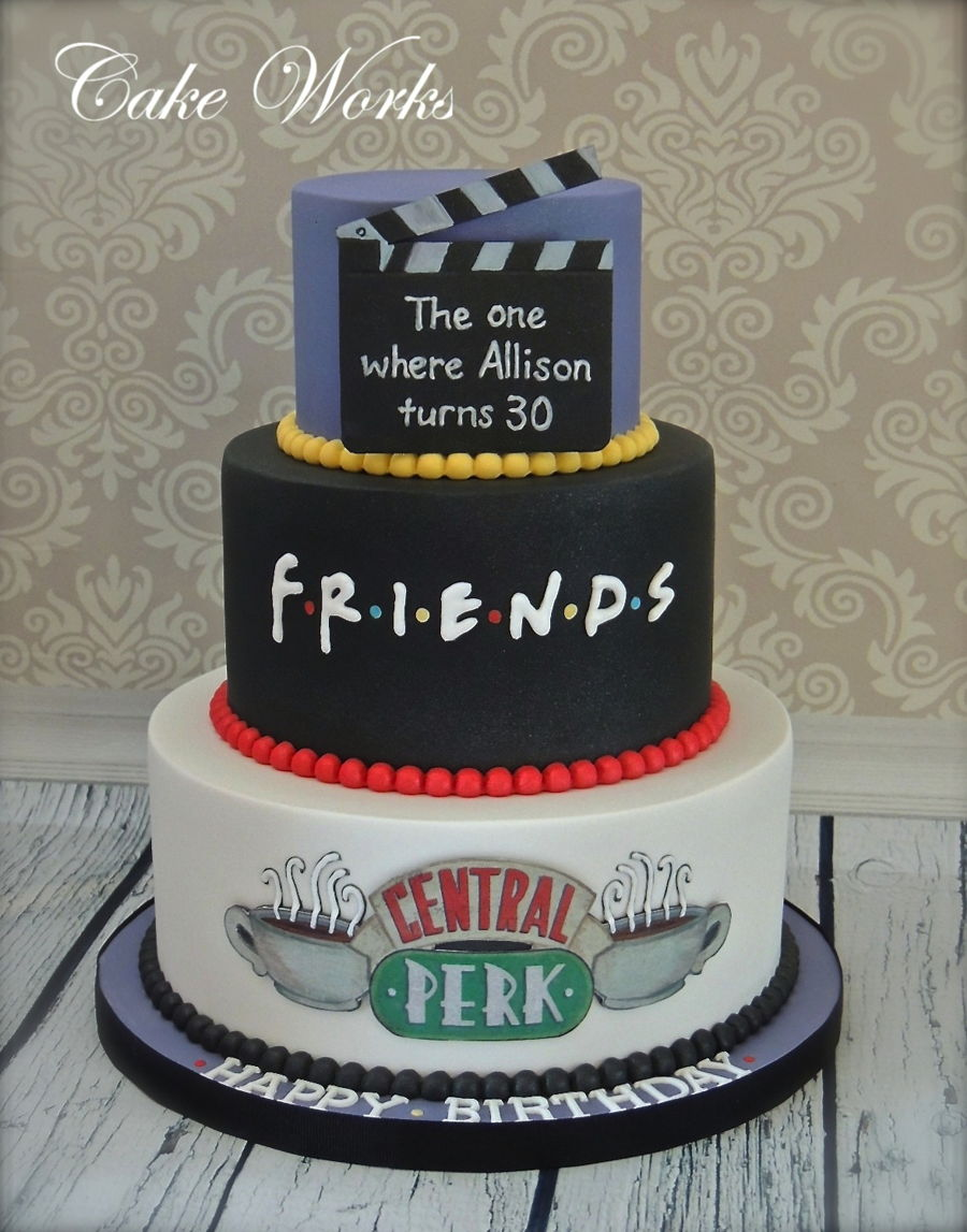Excellent Friends Themed 30Th Birthday Cake Cakecentral Com Personalised Birthday Cards Paralily Jamesorg