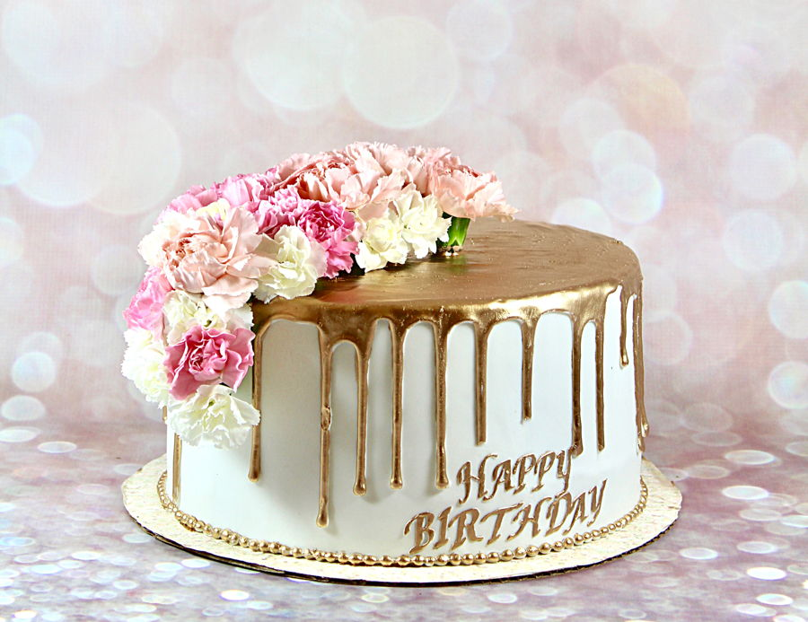Rose Gold Birthday Cake Cake