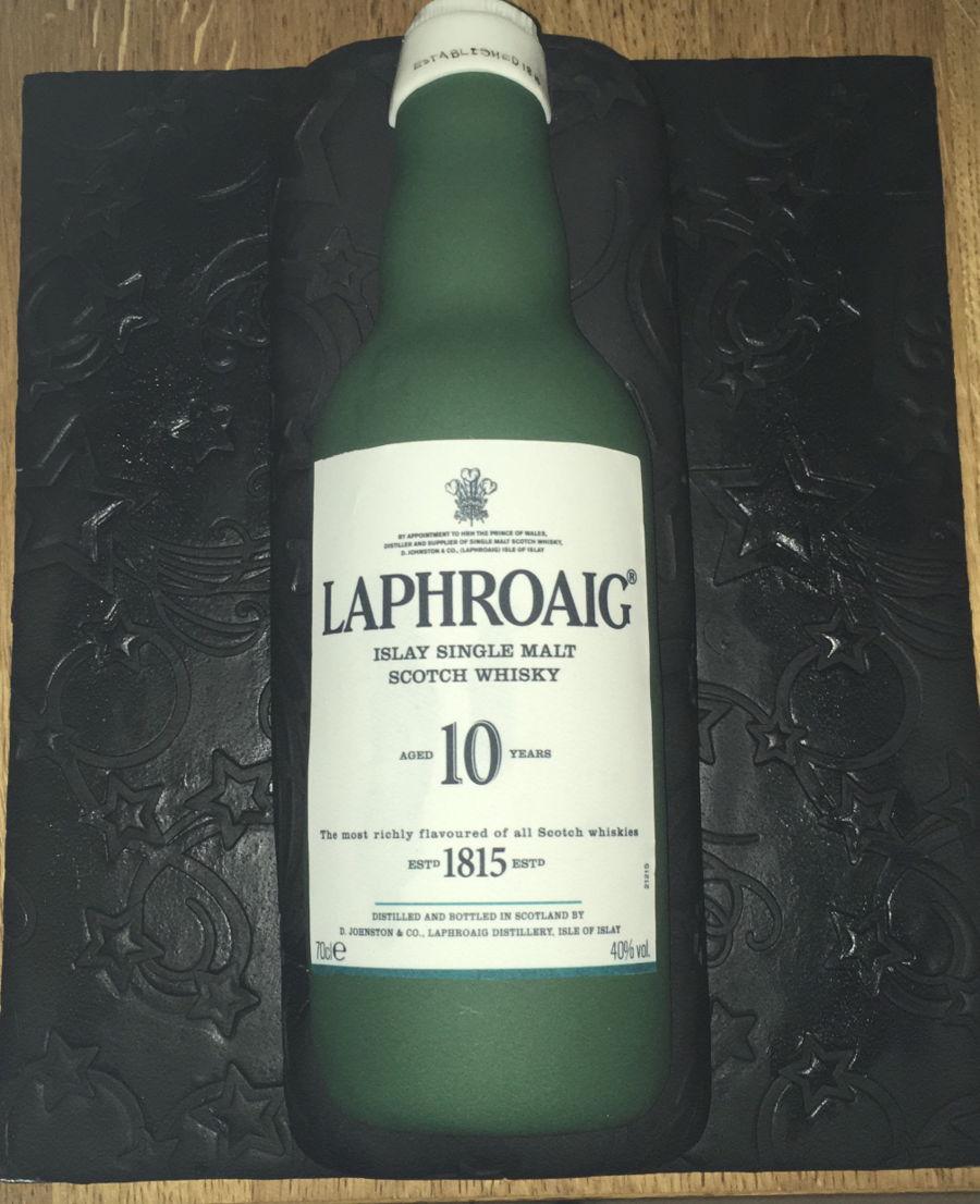 Laphroaig Whisky Bottle Fruit Birthday Cake Cakecentral