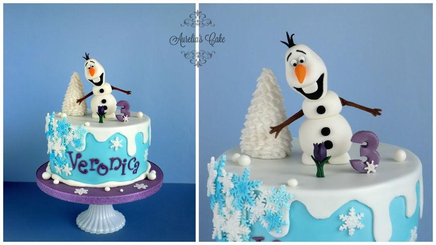 Cake Decoration Olaf : Olaf Cake - CakeCentral.com