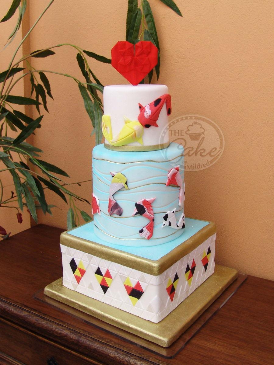 Bite Me — Cake Tutorial #2: Edible Origami Cake | 1200x900