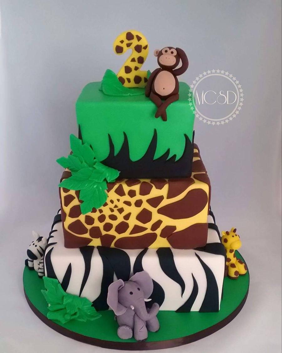 Amazing Safari Jungle Birthday Cake Cakecentral Com Funny Birthday Cards Online Alyptdamsfinfo