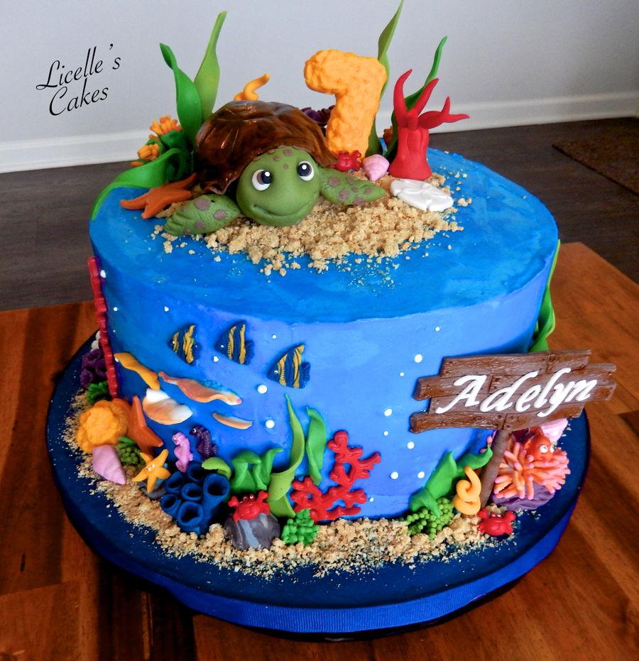 Sea Turtle Cake - CakeCentral.com