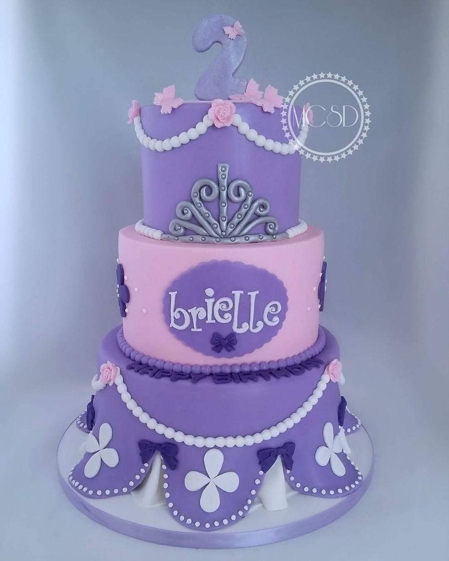 Super Sofia The First Birthday Cake Cakecentral Com Personalised Birthday Cards Arneslily Jamesorg