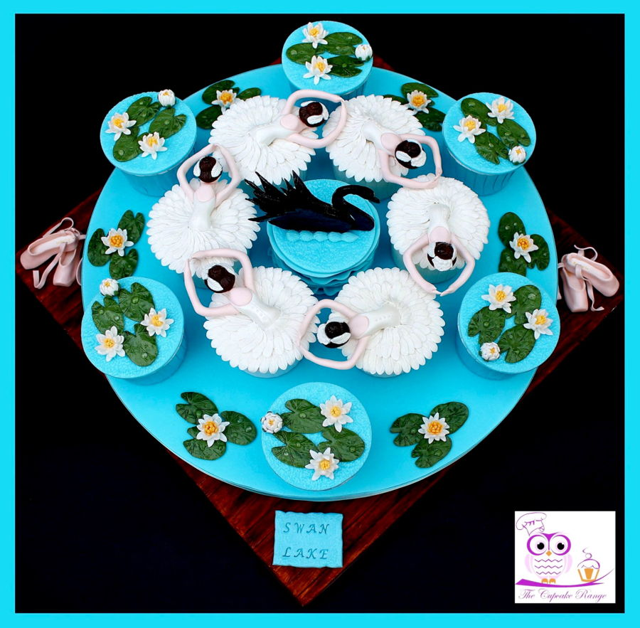 Swan Lake Cupcakes on Cake Central