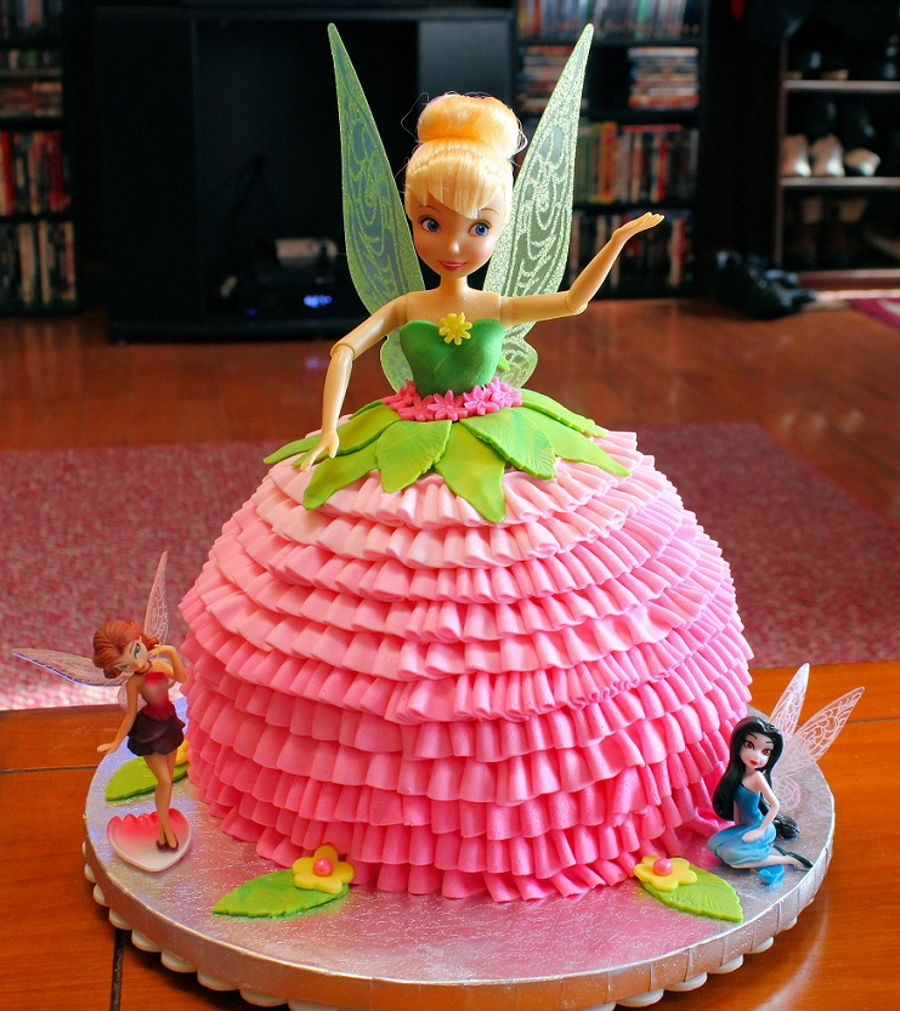 Tinkerbell Doll Cake With Ruffles - CakeCentral.com