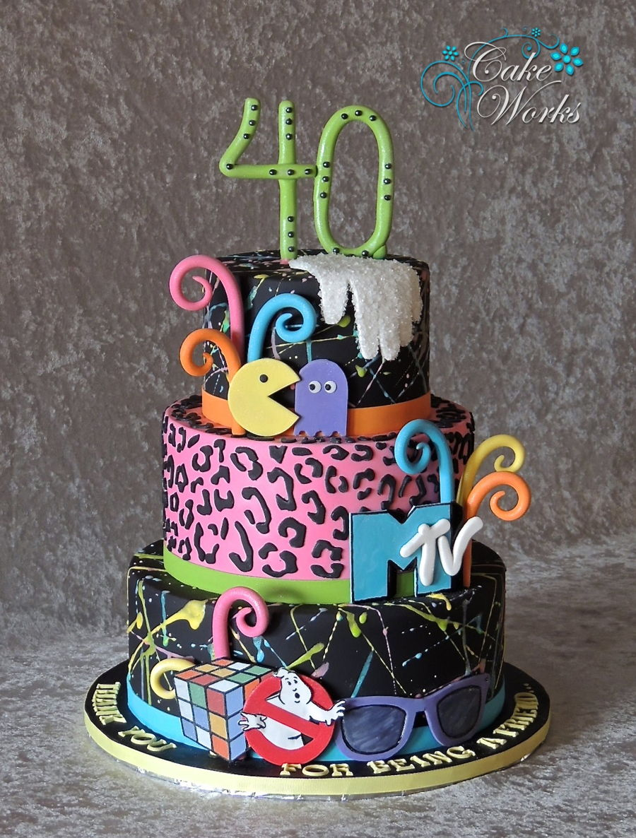 Totally 80's Birthday Cake on Cake Central