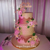 3 Tier Wedding Cake Sumeshni Weds Caleb