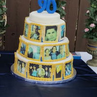 90Th Birthday Cake Edible photo image family history cake