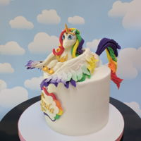 Alicorn Cake an Alicorn is a Unicorn with wings! All these things we learn :-)