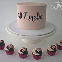 "Amelia's Cake ""Amelia"" - Dark Chocolate Mudcake, with Vanilla Buttercream.I'm so very honoured to be a Cake Angel. If you haven't..."