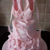 Ballerina Cake Ballet cake complete with fondantballet shoes.