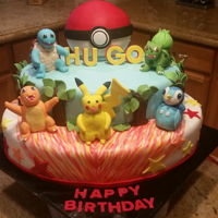 Birthday Cake Pokeman & friends