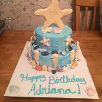 By The Sea Birthday Cake Beach inspired birthday cake