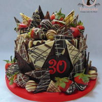 Chocolate And Strawberry Shard Cake Chocolate and strawberry shard cake