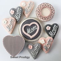 Cookies For Mother's Day These are cookies that I made a few months ago. They are made mainly with royal icing transfers added to sugar the sugar cookies. The...