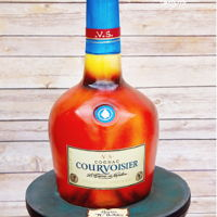Courvoiser Bottlr Made this bottle of brandy for a 70th birthday. Was really pleased with how it tuned out.