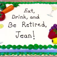 Dieticians Cake Fruits and veggies are made from fondant.