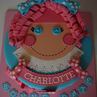 Doll For Lili A doll face for Charlotte's first anniversary. The details are fondant.