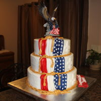 Eagle Scout Ceremony This cake was done for a sweet young man receiving the Eagle Scout honor. His mom gave me pic that she wanted it to look like. Vanilla cake...