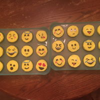 Emoji Cupcakes buttercream with marshmallow fondant accents