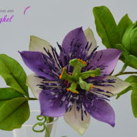 Free Formed Passion Flower free formed gumpaste flower- passion flower