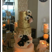 Great Gatsby Themed Wedding 5 tier chocolate wedding cake. This is a Lori Hutchinson design.