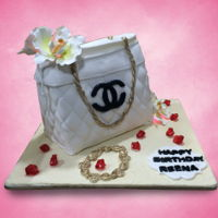 Handbag Cakes 2 Handbag Cakes - White Chanel and Black with Brown Trim.