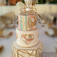 "It's All About The Geo! When a bride tells you that this was the highlight of the day and that the cake ""was beautiful and encapsulated the essence of us..."