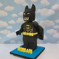 Lego Batman Cake 3D sculpted Lego Batman Cake.