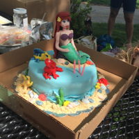 Little Mermaid Cake I made this for my daughters fourth birthday