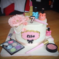 Makeup Cake My aim was grown up but not too grown up!!