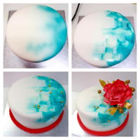 Making Of Red Peony Birthday Cake Making of a birthday cake I made, with airbrush highlights and watercolor effect on satin ice fondant. Peony made with satin ice gumpaste...