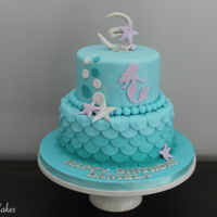 Mermaid Themed Birthday Cake Mermaid themed birthday cake