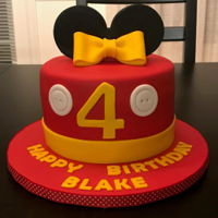 Mickey And Minnie Birthday Cakes A joint birthday party for two lucky kids! Funfetti cake with vanilla buttercream...yum!