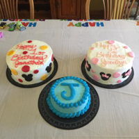 Micky And Minnie Mouse Birthday Cakes Dual birthday cakes; boy and girl Minnie and Micky inspired cakes and smash cake.
