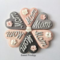 Mother's Day Gift Set These are sugar cookies decorated with Royal icing transfers hand-painted with Rolkem Super Silver.