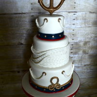 Nautical Cake Nautical baby shower cake