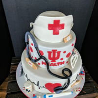 Nurse Cake... Everything on this cake is edible!!
