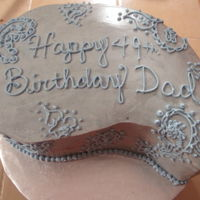 Paisley Paisley shaped cake with a paisley decoration theme