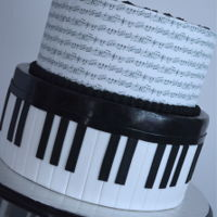 Piano Lover Music notes as an edible image and piano on bottom