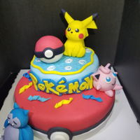 Pokemon Cake Pokémon cake for my daughter on her 7th birthday!